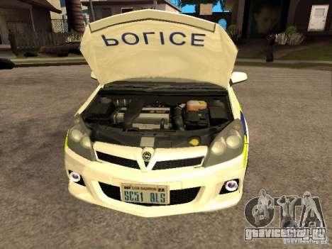 Opel Astra 2007 Police для GTA San Andreas вид справа