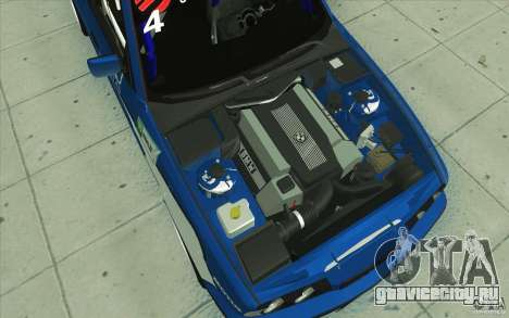 BMW E34 V8 для GTA San Andreas вид снизу