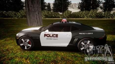 Chevrolet Camaro Police (Beta) для GTA 4 вид слева