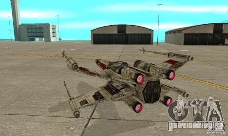 X-WING v1 из Star Wars для GTA San Andreas вид изнутри
