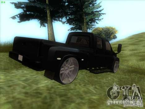 GMC C4500 Pickup DUB Style для GTA San Andreas вид сзади слева