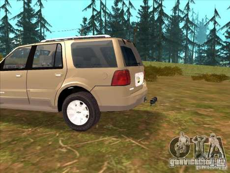 Lincoln Navigator для GTA San Andreas вид изнутри