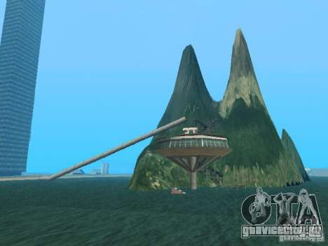 Остров(Mounth Island On The Water) для GTA San Andreas