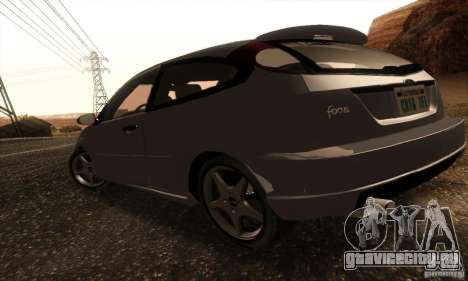 Ford Focus SVT TUNEABLE для GTA San Andreas вид сзади слева