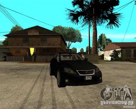 Lexus IS-F v2.0 для GTA San Andreas вид сзади