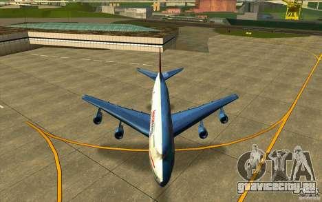 B-747 American Airlines Skin для GTA San Andreas вид изнутри