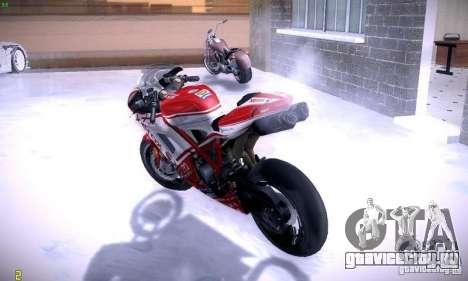 Ducati 1098 для GTA San Andreas вид изнутри