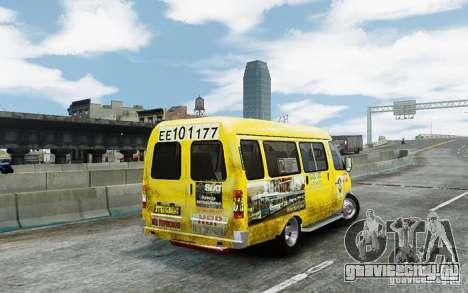 ГАЗель 2705 Такси v2.0 для GTA 4 вид справа