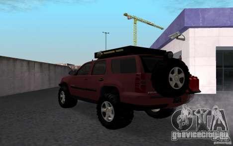 Chevrolet Tahoe для GTA San Andreas вид слева