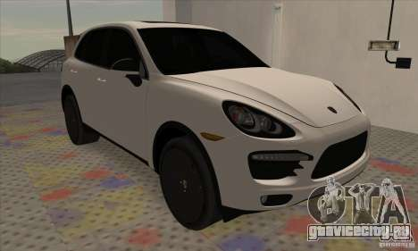 Porsche Cayenne Turbo Black Edition для GTA San Andreas вид слева