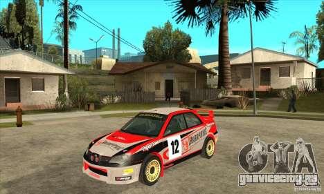 Subaru Impreza STi WRC wht2 для GTA San Andreas вид слева