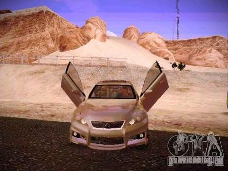 Lexus I SF для GTA San Andreas вид снизу