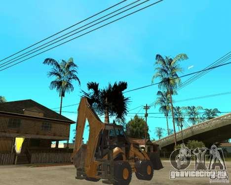 Lastik Tekerli Dozer для GTA San Andreas вид сзади слева