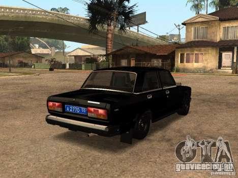ВАЗ 21073 Служебная для GTA San Andreas вид сзади слева