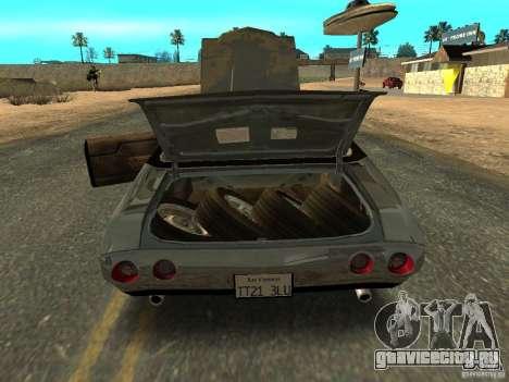 Chevrolet Chevelle Rustelle для GTA San Andreas вид сзади