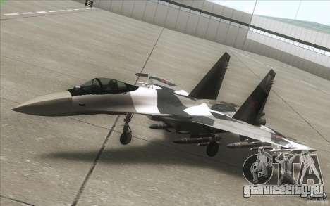 Су-35 БМ v2.0 для GTA San Andreas вид сбоку