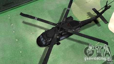 Sikorsky UH-60 Black Hawk для GTA 4 вид сзади