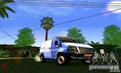 Ford Transit SWB 2011 для GTA San Andreas вид сзади