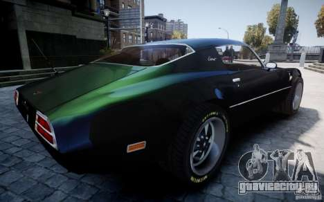 Pontiac Firebird 1971 для GTA 4 вид сверху
