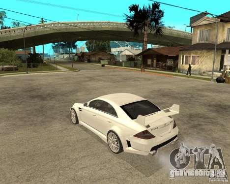 MERCEDES CLS 63 AMG TUNING для GTA San Andreas вид слева