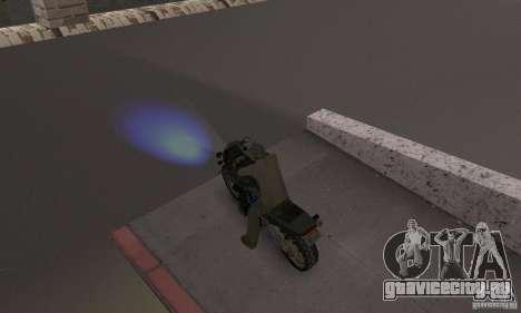 Синий цвет фар для GTA San Andreas второй скриншот