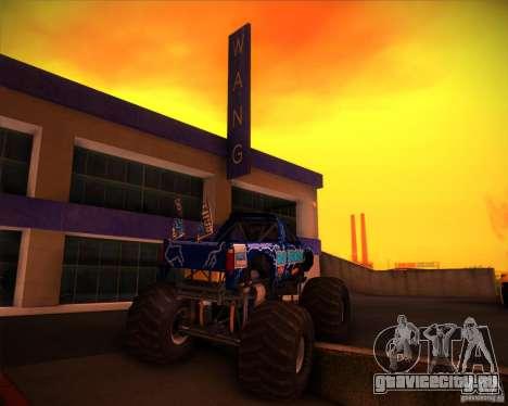 Monster Truck Blue Thunder для GTA San Andreas вид сбоку