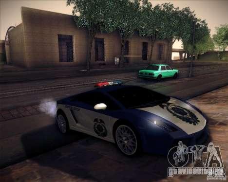 Lamborghini Gallardo LP560-4 Undercover Police для GTA San Andreas вид справа
