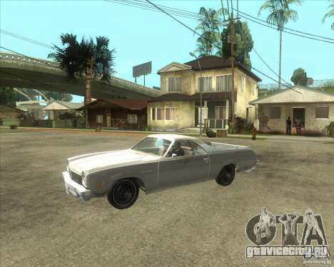 1973 Chevrolet El Camino (old) для GTA San Andreas вид сзади слева