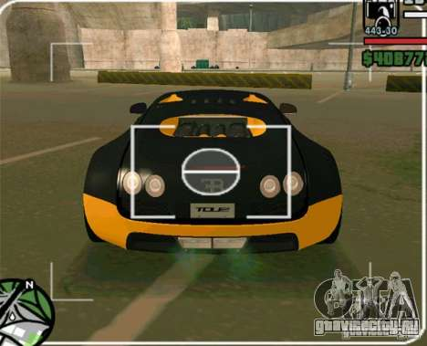 Bugatti Veyron Super Sport final для GTA San Andreas вид сзади слева
