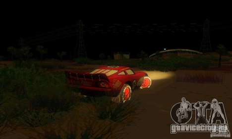 MCQUEEN from Cars для GTA San Andreas вид сзади