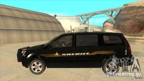 Dodge Caravan Sheriff 2008 для GTA San Andreas вид слева