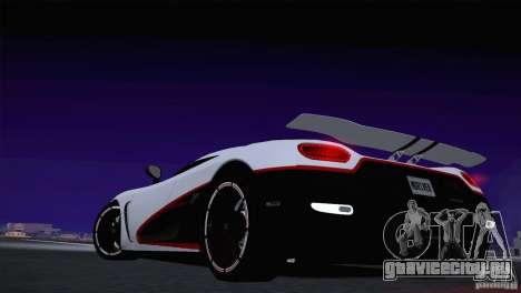 Koenigsegg Agera R 2012 для GTA San Andreas вид изнутри