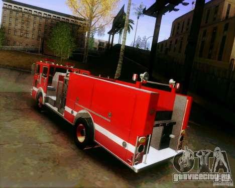 Pumper Firetruck Los Angeles Fire Dept для GTA San Andreas вид слева