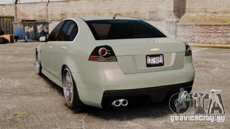 Chevrolet Lumina 2009 Mr. Bolleck Edition для GTA 4 вид сзади слева
