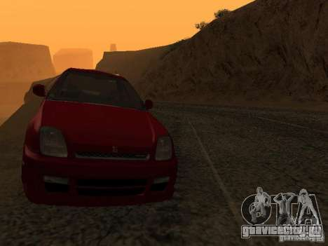Honda Prelude Sport для GTA San Andreas вид изнутри