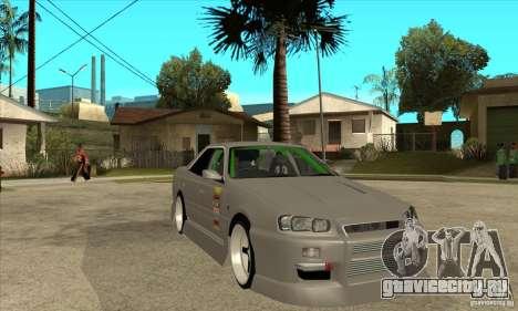 Nissan Skyline Er34 Street Drift для GTA San Andreas вид сзади