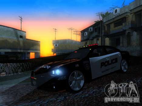 Dodge Charger SRT8 Police для GTA San Andreas вид изнутри