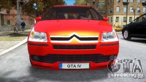 Citroen C4 для GTA 4 вид изнутри