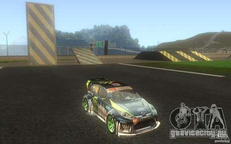 Ford Fiesta Gymkhana для GTA San Andreas вид изнутри