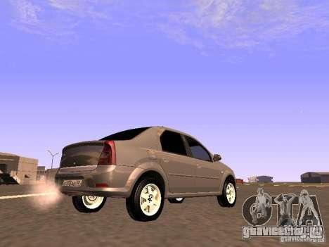 Renault Logan для GTA San Andreas вид сзади слева