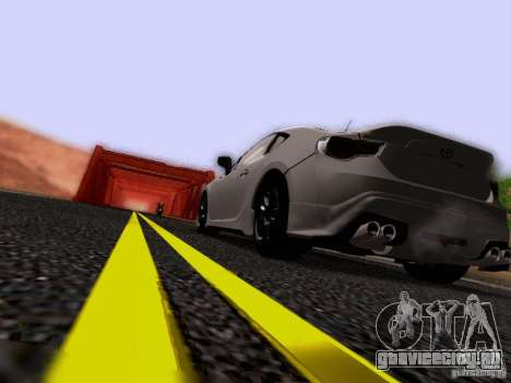 Toyota 86 TRDPerformanceLine 2012 для GTA San Andreas вид снизу