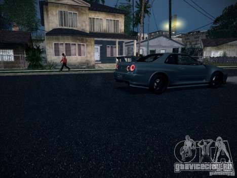 Nissan Skyline Z-Tune для GTA San Andreas вид изнутри