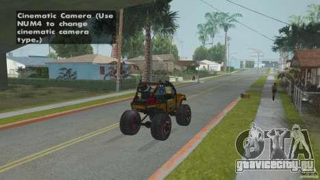 Jeep CJ-7 4X4 для GTA San Andreas вид сзади слева