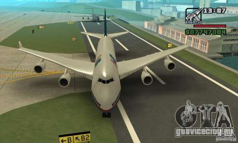 Самолёт из GTA 4 Boeing 747 для GTA San Andreas вид сзади слева