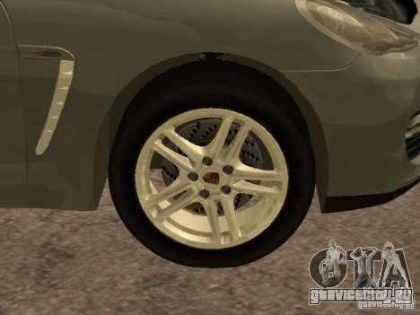Porsche Panamera Turbo 2010 для GTA San Andreas вид изнутри