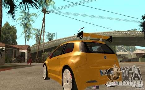 Fiat Grande Punto Tuning для GTA San Andreas вид сзади слева