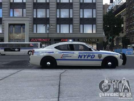 Dodge Charger NYPD для GTA 4 вид сзади слева