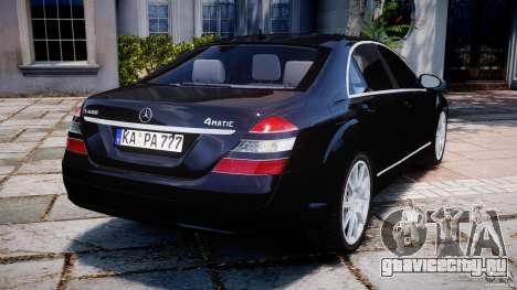 Mercedes-Benz S600 w221 для GTA 4 вид сзади слева