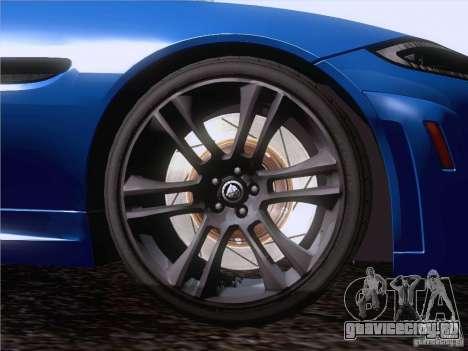 Jaguar XKR-S 2011 V2.0 для GTA San Andreas вид сверху