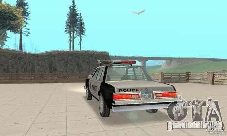 Dodge Diplomat 1985 Police для GTA San Andreas вид слева